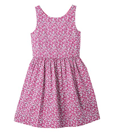 Polo Ralph Lauren Kids Floral Cotton Poplin Dress (Little Kids) (Pink Multi) Girl