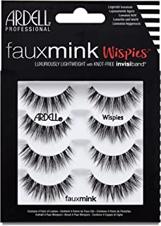 Ardell False Eyelashes Faux Mink Wispies, 1 pack (4 pairs per pack)