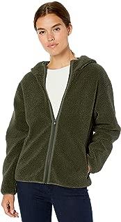 Daily Ritual Women's Teddy Bear Fleece Hooded Zip Jacket