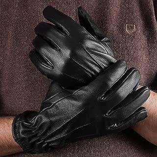Cold Weather Kevlar Genuine Leather Police Winter Gloves Black Men (XL)