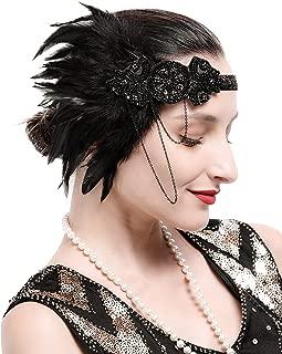 1920s Headpiece Roaring 20s Great Gatsby Headband Flapper Accessories for Women