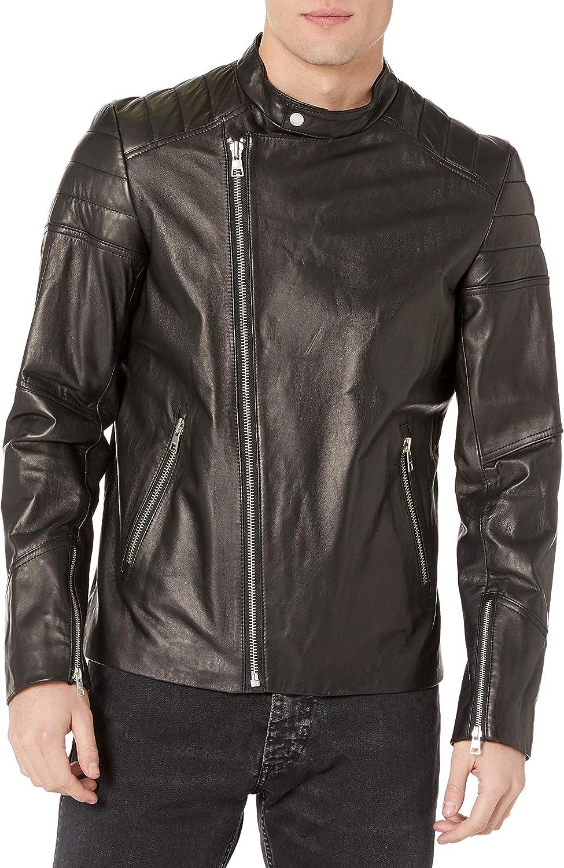 Soia & Kyo Men's Byron Leather Moto Jacket
