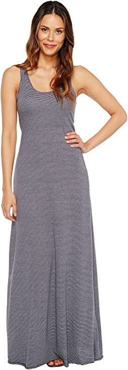 Eco Jersey Yarn-Dye Stripe Double Scoop Tank Dress