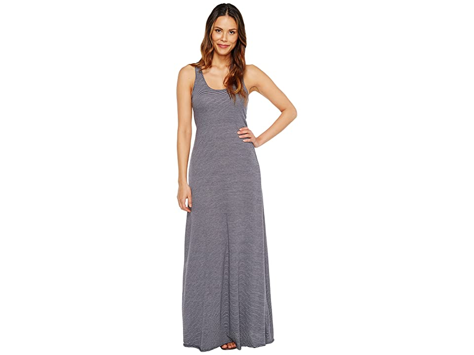 Alternative Eco Jersey Yarn-Dye Stripe Double Scoop Tank Dress (Midnight Seaside Stripe) Women