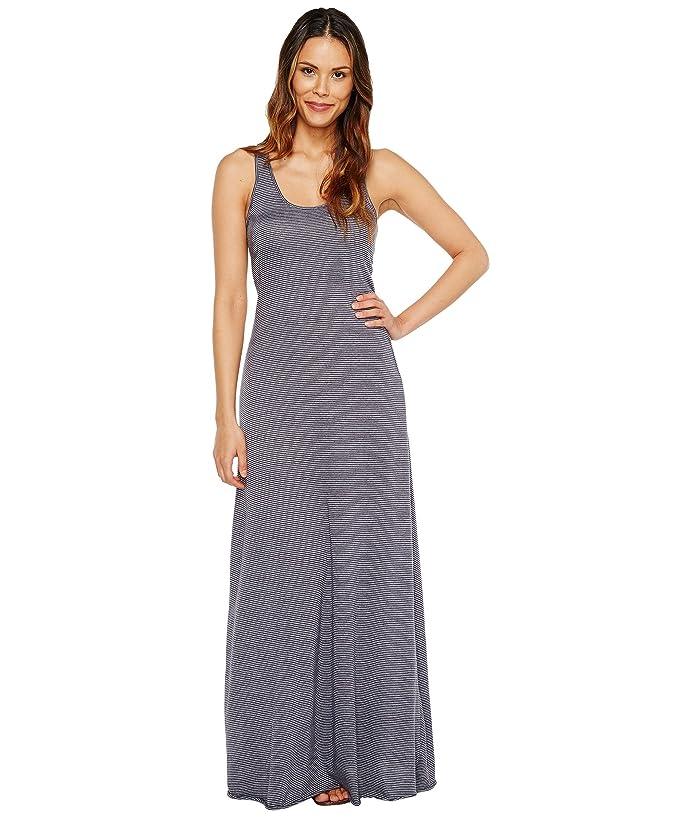 Eco Jersey Yarn Dye Stripe Double Scoop Tank Dress by Alternative