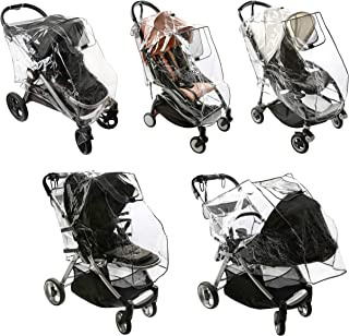 Baby Stroller Rain Cover - Weatherproof Shield to Safeguard Your Child from Wind and Rain. Universal Size, Mesh Material f...