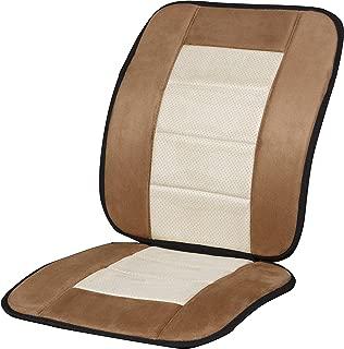 Kool Kooshion Microsuede Full Seat Cushion, Tan/Beige