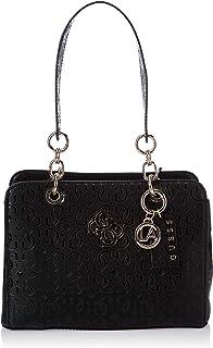 GUESS Women's Chic Shine Shoulder Bag, Color: Black