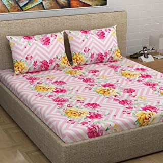 Divine Casa Millennial Double Bedsheet, Multi-Colour, ML1828