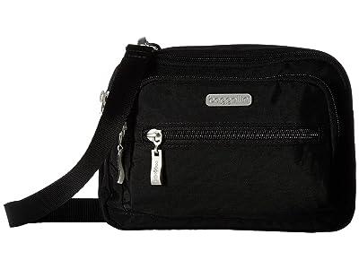Baggallini Legacy Triple Zip Bagg (Black/Sand) Cross Body Handbags