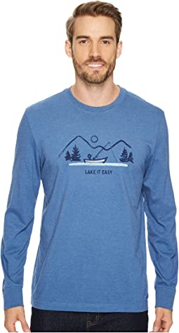 Life is Good - Lake It Easy Long Sleeve Crusher Tee