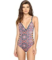 Lucky Brand - Festival Medallion Side Detail One-Piece