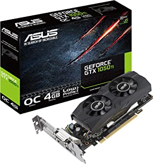 ASUS GeForce GTX1050TI-O4G-LP-BRK - Tarjeta gráfica (4 GB, HDMI, 2.0, DP 1.4, DVI)