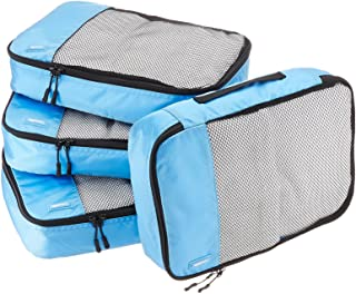 4 Piece Packing Travel Organizer Cubes Set - Medium, Sky...