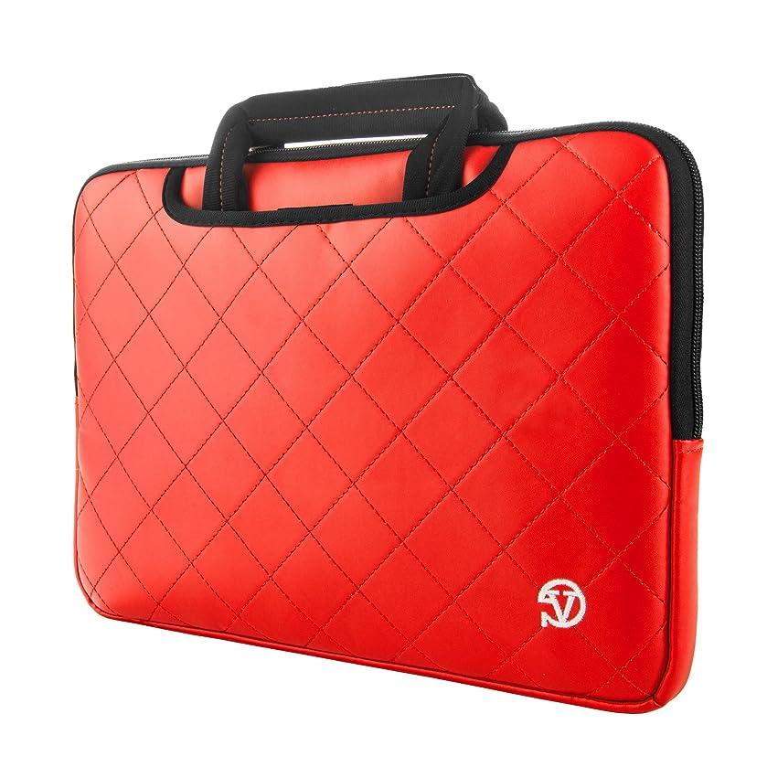 VanGoddy Diamond Stitched Slim Red Carryall Laptop Sleeve for HP ChromeBook, x2/EliteBook/Pavilion/ProBook/Spectre/Stream 11