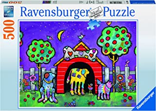 Ravensburger Dogs at Twilight 500 Piece Jigsaw Puzzle for Adults – Every Piece is Unique, Softclick Technology Means Pieces Fit Together Perfectly