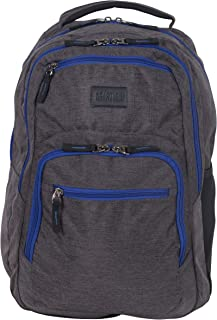 """Kenneth Cole Reaction Back Up and Go Heathered Polyester Dual Compartment 17"""" Laptop Backpack"""