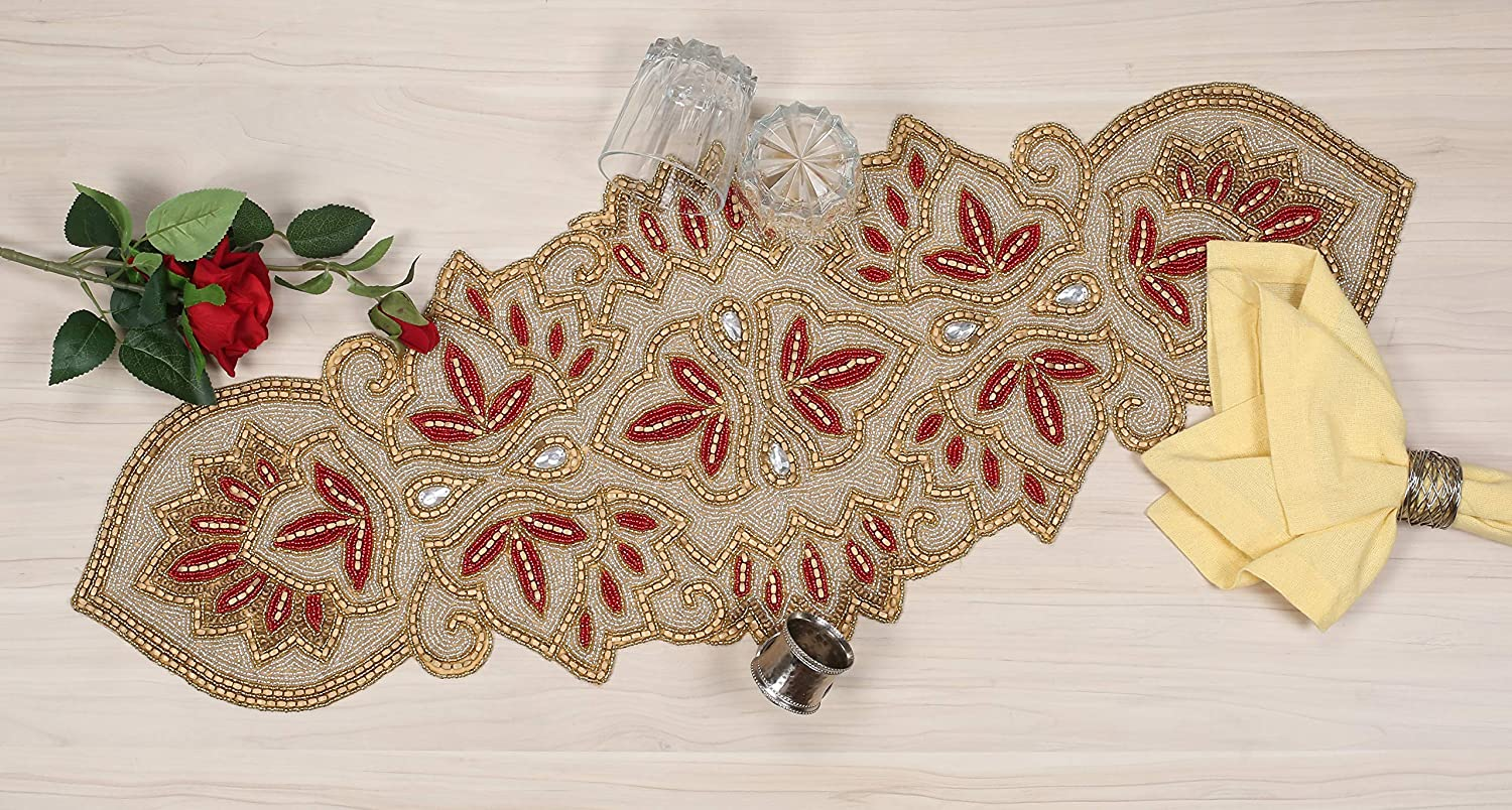 Special price for a limited time Beaded Table Runner 36inch Max 57% OFF Decorative Glitz R