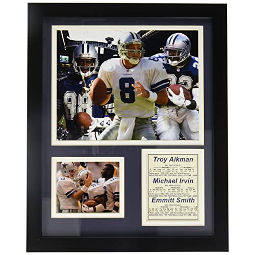 hot sale online 8e5f9 dc6dd Legends Never Die Dallas Cowboys Aikman, Irvin and Smith Framed Photo  Collage, 11x14-