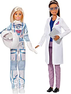 Barbie Careers Astronaut and Space Scientist Doll, 2 Pack