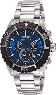 Invicta Men's 22526 Aviator Analog Display Swiss Quartz Silver Watch