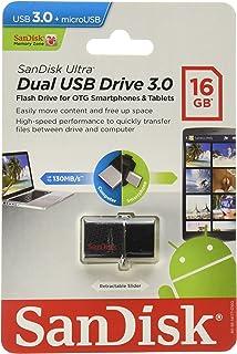 Sandisk Utlra Dual USB Drv 16 GB (SDDD2-016G-A46)