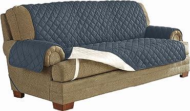 "Serta   Microsuede Waterproof Furniture Protector Fits Sofas up to, 70"" Wide, Machine Washable, Denim"