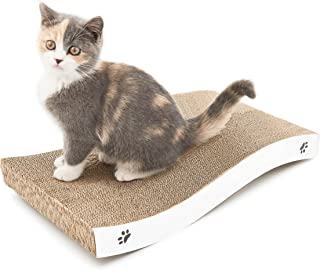 Polarduck 爪とぎ ネコの爪とぎ ベッド 猫のつめとぎ ねこつめどぎ ネコ用品 スクラッチャー 猫用品 高密度 耐久 爪磨き 家具傷防止 運動不足改善 ストレス解消猫おもちゃ 両面使える 省スペース ウェーブタイプ