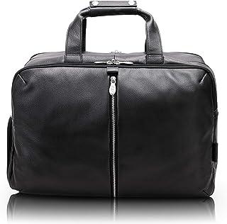 "McKlein Avondale, Pebble Grain Calfskin Leather, 22"" Leather, Triple Compartment, Carry-All, Travel, Laptop Duffel, Black (18905)"