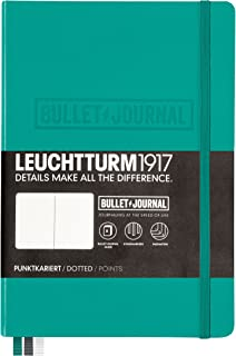 Leuchtturm1917 Medium A5 Notebook- Bullet Journal Special Edition- 240 numbered pages, Emerald