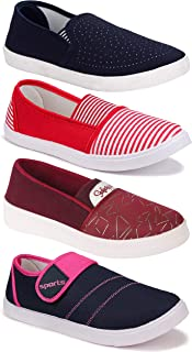 Shoefly Women's (5041-778-11021-5029) Multicolor Casual Sports Running Shoes (Set of 4 Pair)