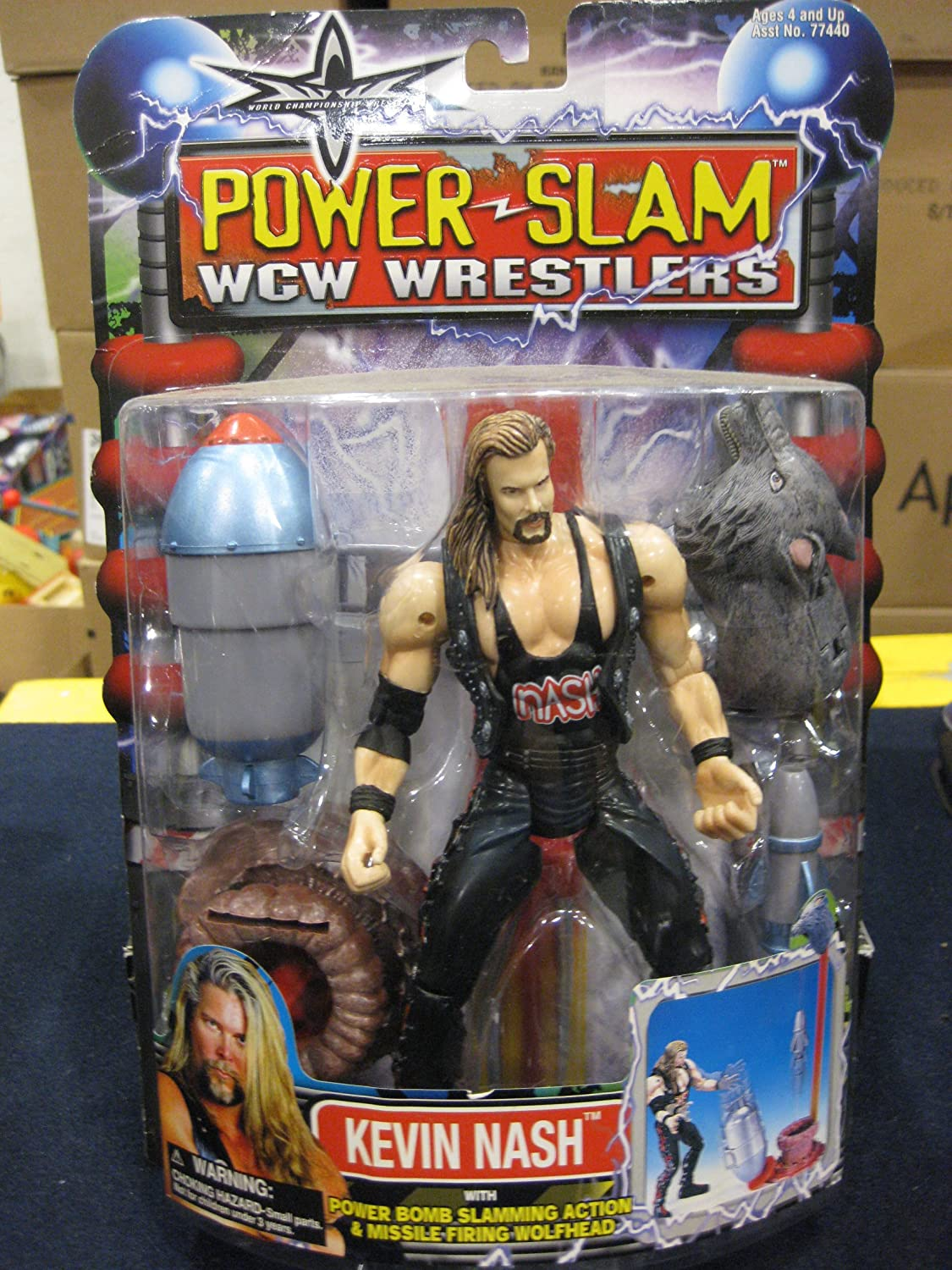 WCW POWER SLAM WRESTLERS- KEVIN NASH- MOST RARE WCW FIGURE EVER MADE by TOy Biz