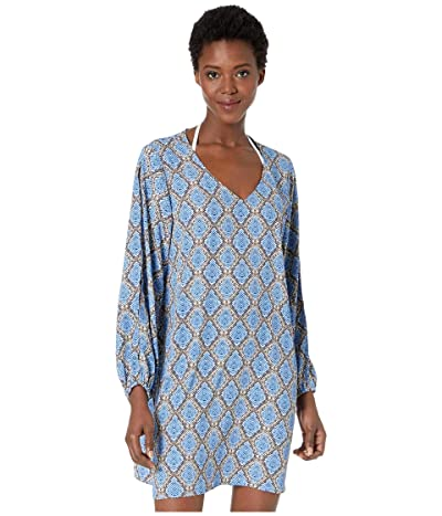 Tommy Bahama Desert Python V-Neck Dress Cover-Up (Blue Monday) Women