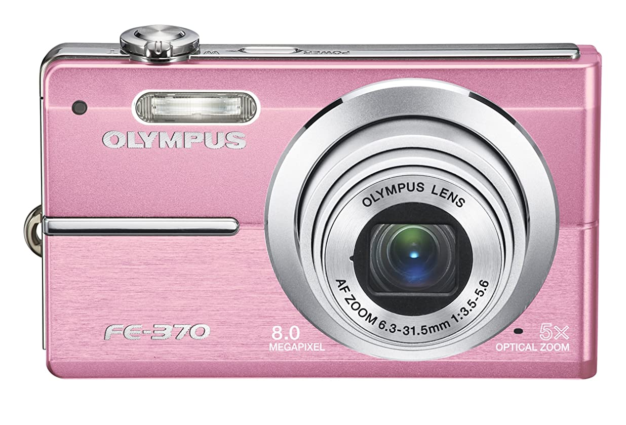 Olympus FE370 8MP Digital Camera with 5x Optical Dual Image Stabilized Zoom (Pink) zlcvrsvv8