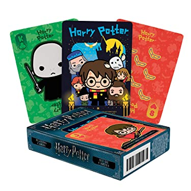 AQUARIUS Harry Potter Playing Cards - Chibi Themed Deck of Cards for Your Favorite Card Games - Officially Licensed Harry Potter Merchandise & Collectibles - Poker Size with Linen Finish