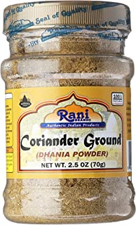 Sponsored Ad - Rani Coriander Ground Powder (Indian Dhania) Spice 2.5oz (70g) PET Jar ~ All Natural, Salt-Free | Vegan | N...