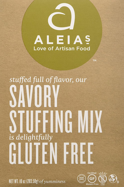 Aleia's Gluten Free Foods Stuffing Mix, Savory, Gf, 10-Ounce (Pa