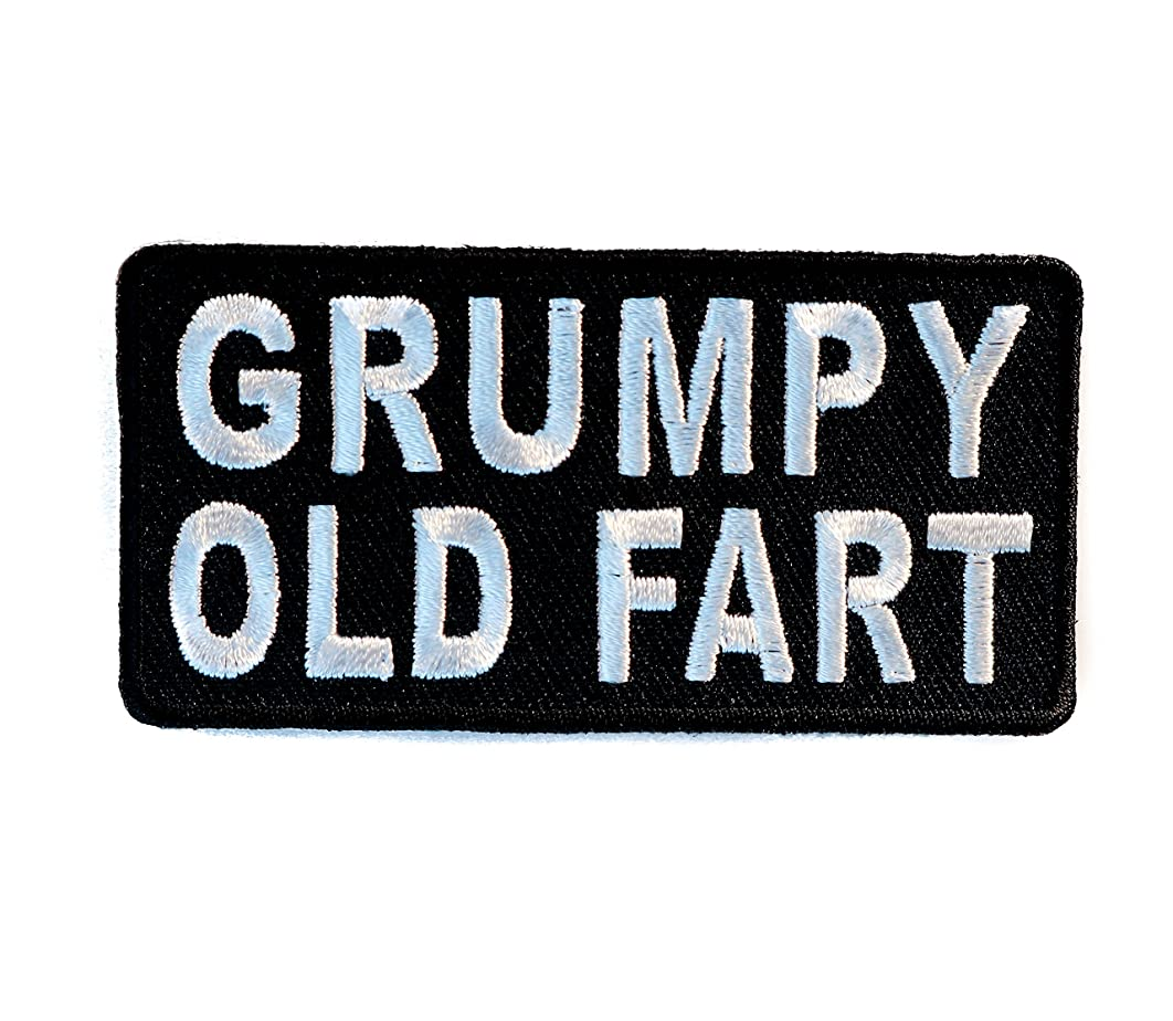 GRUMPY OLD FART Embroidered Patch 3 inch IVANP4677