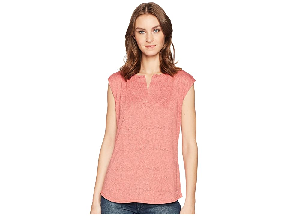 Woolrich Eco Rich New Heights Sleeveless Tee (Baked Clay Heather) Women