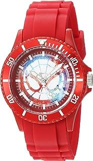 Marvel Men's Classic Analog-Quartz Watch with Plastic Strap, red, 20 (Model: WMA000064)