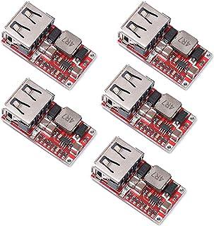 SongHe 5pcs 6-24V 12V/24V to 5V 3A USB Charger Step Down Module DC-DC Converter Phone Charger Car Power Supply Module Effi...