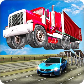 Mega Ramp Truck Trailer Open Doors Car Racing Stunt Game
