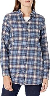 Amazon Brand - Goodthreads Women's Flannel Relaxed Fit Boyfriend Tunic Shirt
