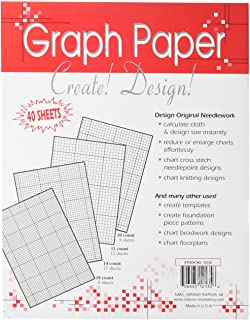 Crafters Helper Needlework Graph Paper, 8-1/2 by 11-Inch, 40 Per Package