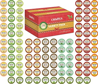 Cha4TEA 100-Count Tea Variety Sampler Pack for Keurig K-Cup Brewers, Multiple Flavors (Green Tea, Black Tea, Jasmine, Earl Grey, English Breakfast, Oolong Green Tea, Peppermint, Chai Tea)