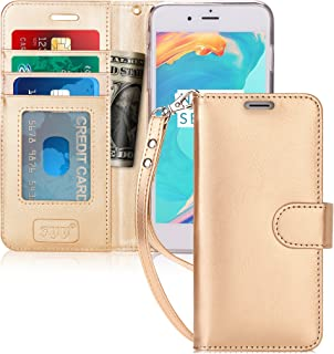 iPhone 6S Plus Case, iPhone 6 Plus Case, FYY [Top-Notch Series] Premium PU Leather Wallet Case Stand Cover for iPhone 6/6S Plus (5.5 inch) Gold