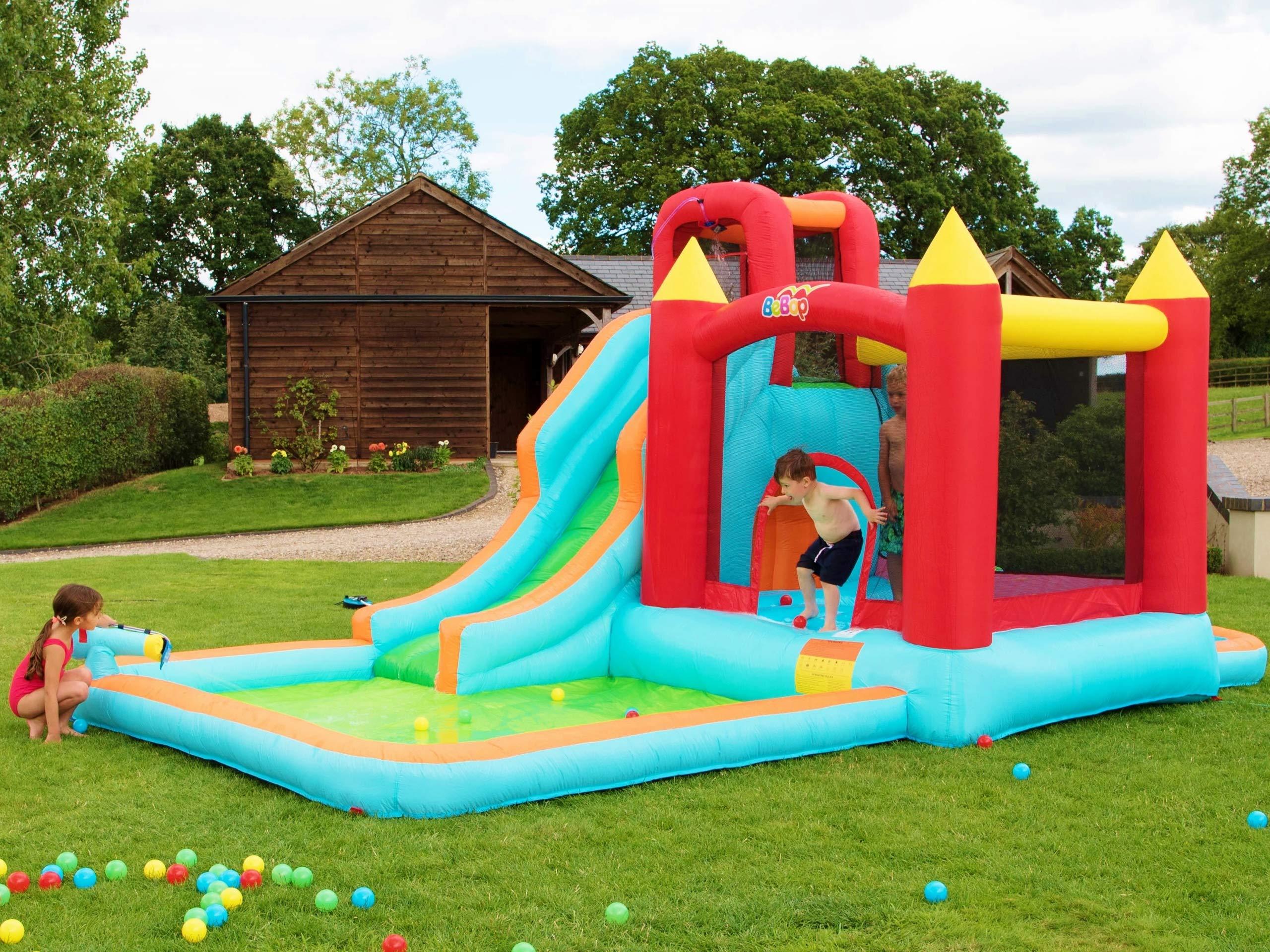BeBop Parque acuático Hinchable para jardín Wild Splash para niño: Amazon.es: Juguetes y juegos