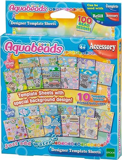 Hoja De Plantillas De Diseñador Aquabeads Toys Games