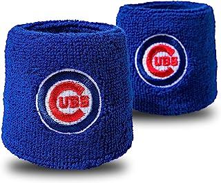 Franklin Sports MLB Team Licensed Baseball Wristbands - MLB Team Logo Sweat Wristbands - Great for Costumes + Uniforms - Pair