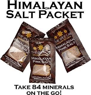 The Spice Lab Himalayan Pink Salt - Fine - 50 Salt Packets- Gourmet Pure Crystal - Pink Himalayan Salt is Nutrient and Mineral Dense for Health - Kosher & Natural Certified - Excellent Bath Salt
